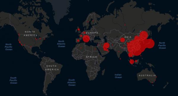 ΚΟΡΟΝΟΙΟΣ-παγκόσμιος-χάρτης